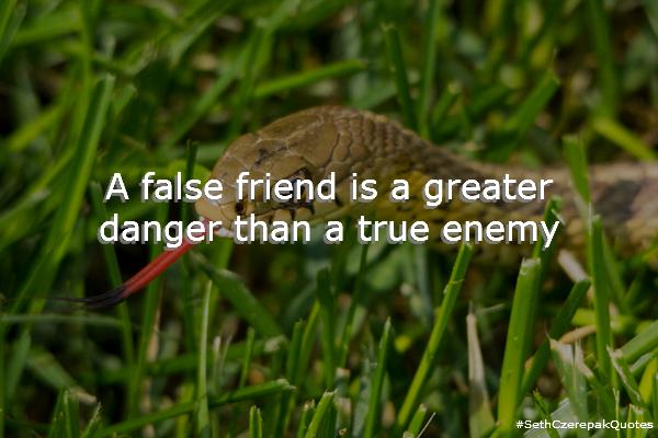 A false friend is a greater danger than a true enemy.
